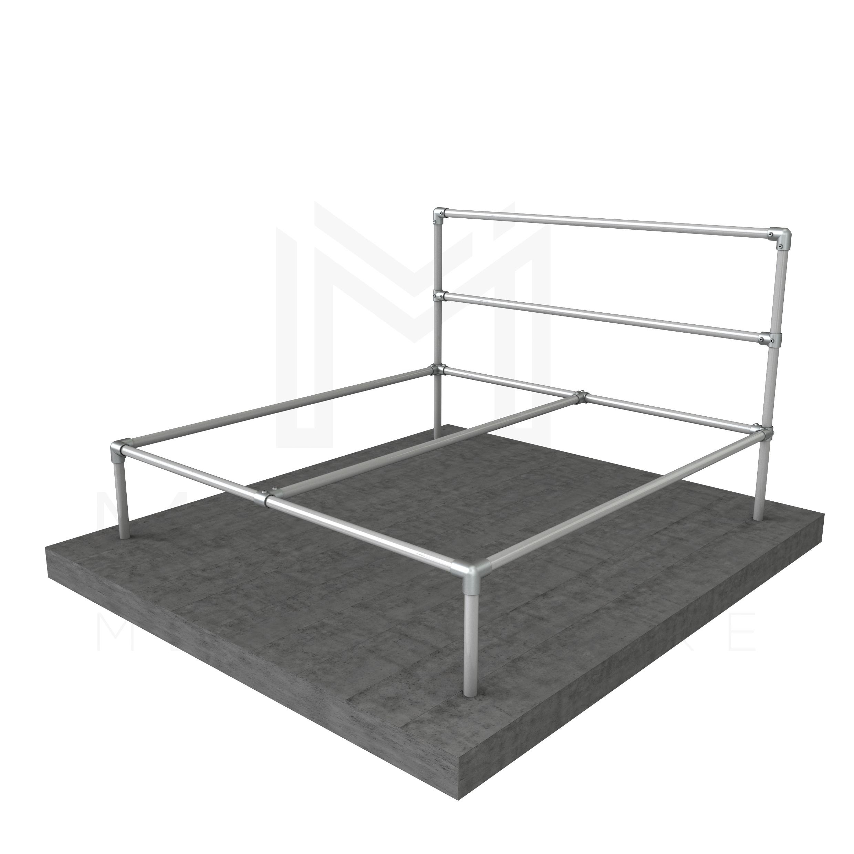 King Size Bed Basic Frame Modular Metal Store