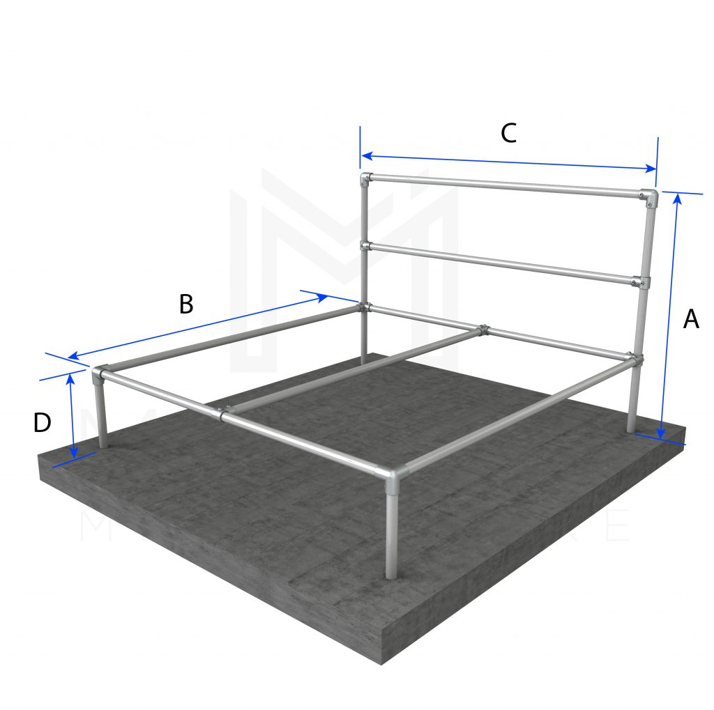 King Size Bed Basic Frame Modular Metal Store