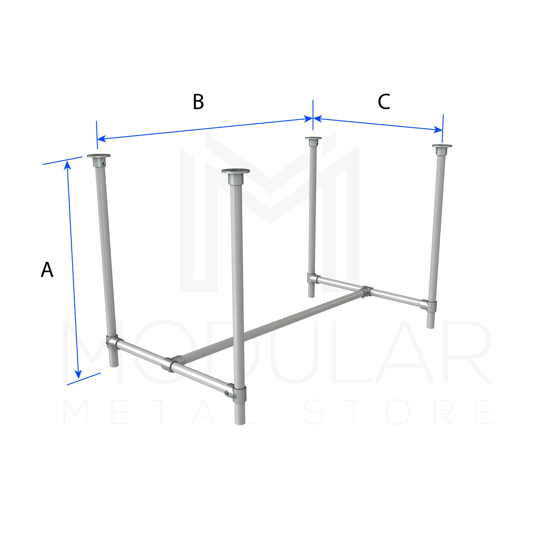 Basic Table Frame - Modular Metal Store