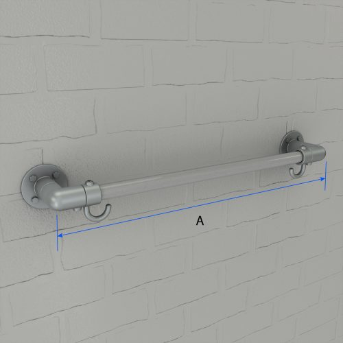 Clothing Rail and Hook Dimensions