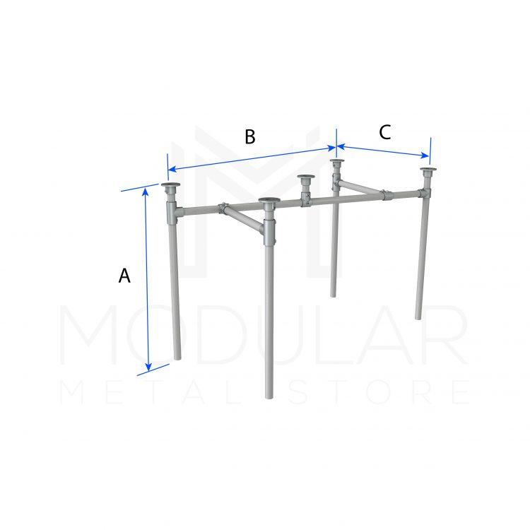 Diagonal Frame Table Dimensions