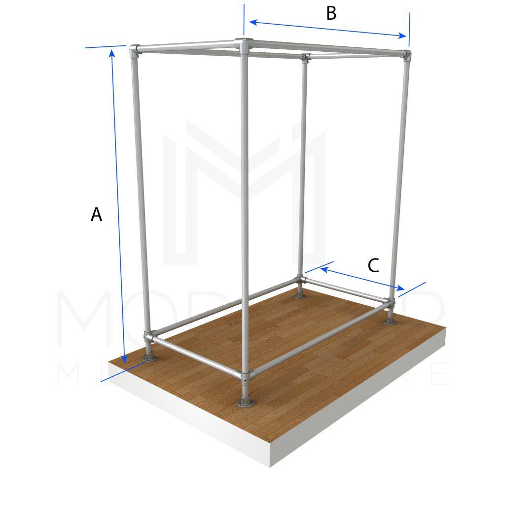 Free Standing Box Style Clothing Rail