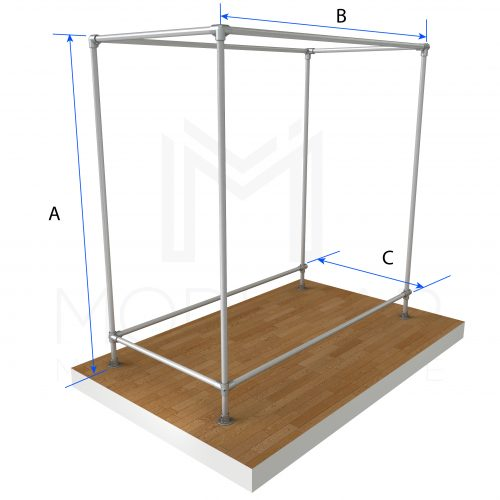 Free Standing Double Isle End Dimensions
