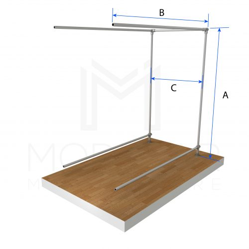 Free Standing Double Isle Ext Dimensions