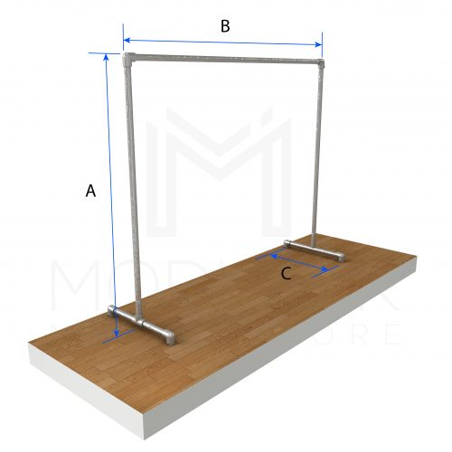 Free Standing Single CR Dimensions