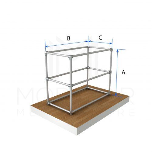 Shelve Trolley Unit Dimensions