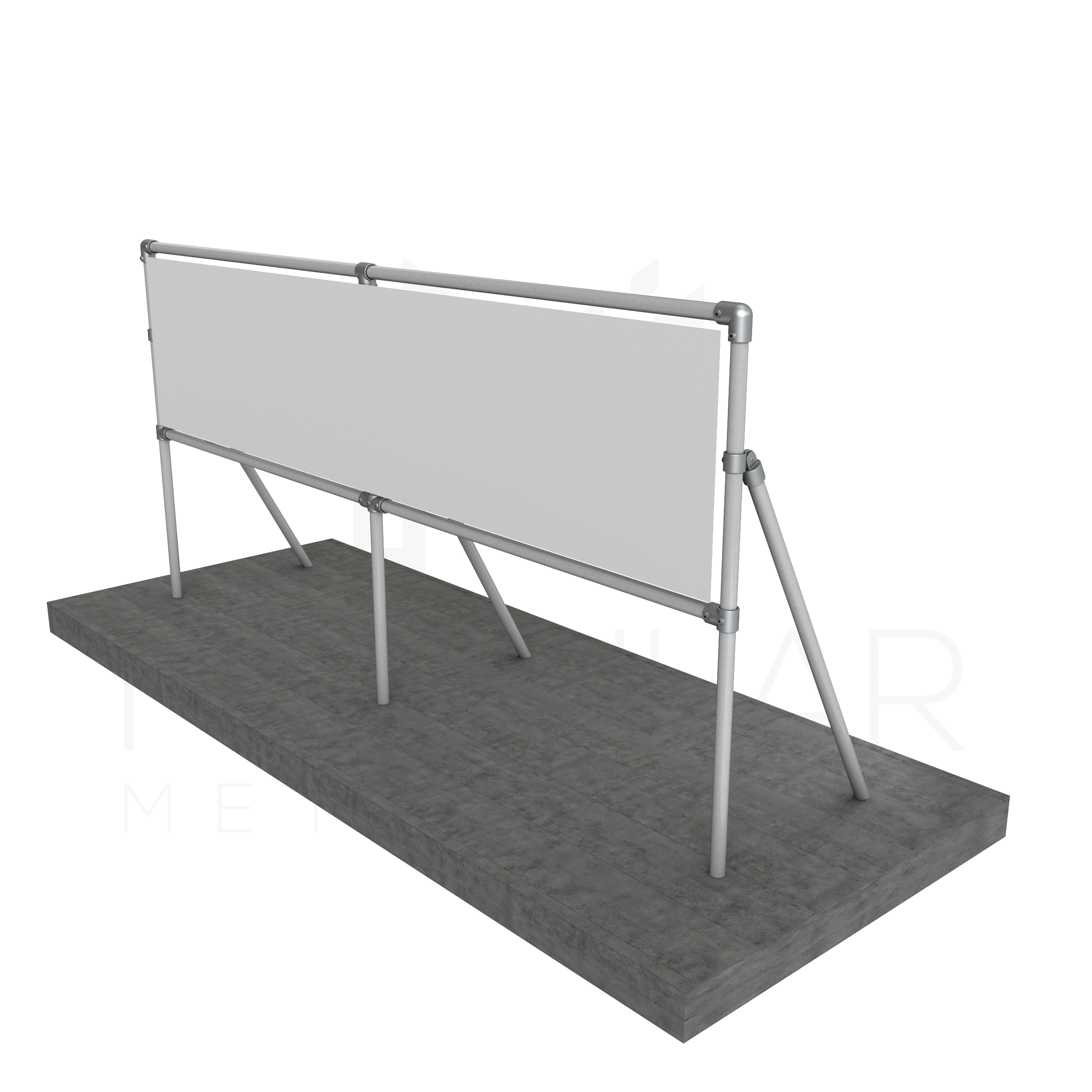 Modular Sign Frame With Diagonal Support Multi Span