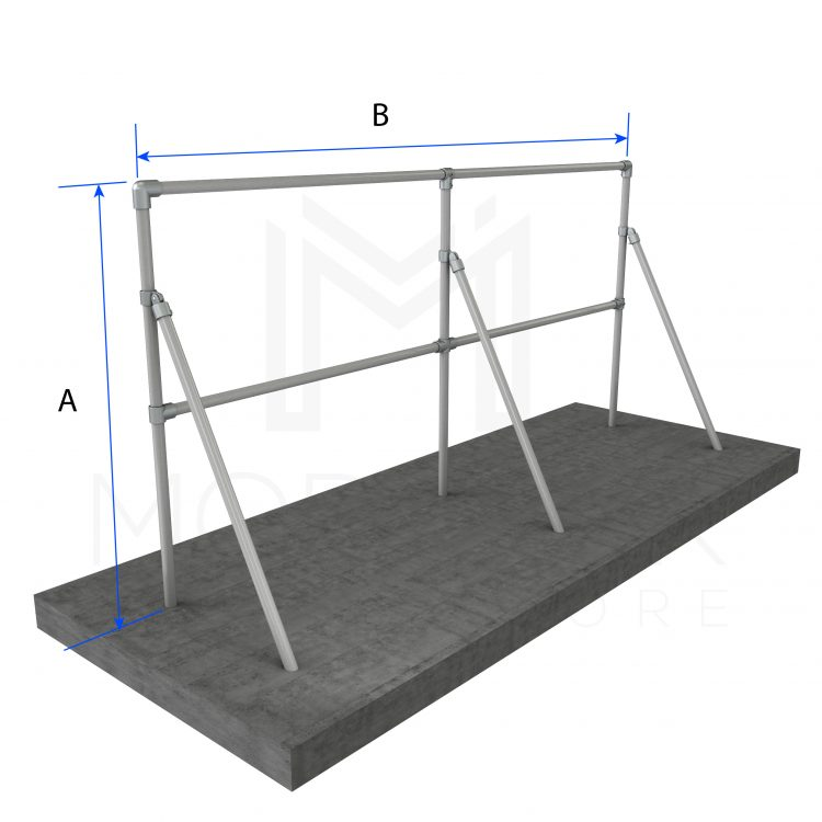 Sign Frame Multiple With Support Dimensions