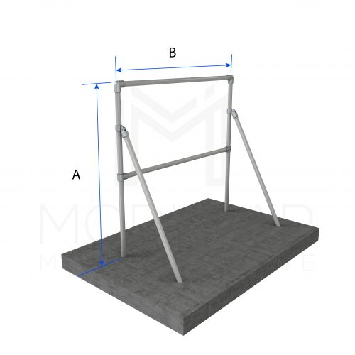 Sign Frame Single With Support Dimensions