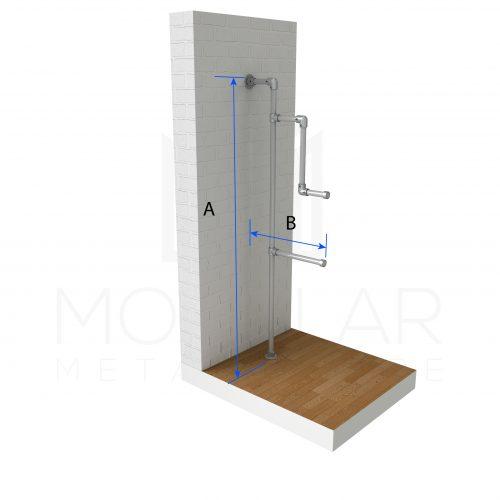 Single Post Display Rack Dimensions