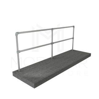 Straight and Flat Guardrail Run