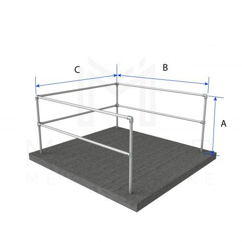 U-Shaped Guardrail Dimensions